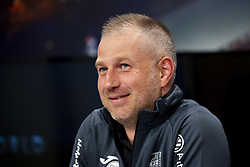 July 23, 2018 - Cluj, Romania - 180723 Head coach Edward Iordanescu of Cluj during a press conference and practice ahead the UEFA Champions League qualifying match between Cluj and MalmÅ¡ FF on July 23, 2018 in Cluj..Photo: Ludvig Thunman / BILDBYRN / kod LT / 35509 (Credit Image: © Ludvig Thunman/Bildbyran via ZUMA Press)