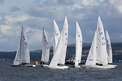 Peelport Clydeport, Largs Regatta Week 2014 Largs Sailing Club based at  Largs Yacht Haven with support from the Scottish Sailing Institute & Cumbrae.<br /> <br /> Etchells Pre-start