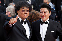 Bong Joon-Ho, Kang-Ho Song, at the closing ceremony and The Specials film gala screening at the 72nd Cannes Film Festival Saturday 25th May 2019, Cannes, France. Photo credit: Doreen Kennedy