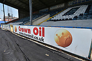 Rochdale's Spotland Sponsor during the EFL Sky Bet League 1 match between Rochdale and Bradford City at Spotland, Rochdale, England on 21 April 2018. Picture by Mark Pollitt.