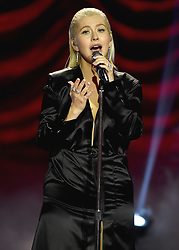 LOS ANGELES, CA - NOVEMBER 19:  Christina Aguilera at the 2017 American Music Awards at Microsoft Theater on November 19, 2017 in Los Angeles, California. (Photo by Frank Micelotta/PictureGroup)