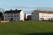 Housing estates in East Kirkcaldy, which is one of the poorest areas in Scotland with staggeringly high numbers of child poverty. Many disadvantaged families, and vulnerable people, and over a thousand children are surviving below the breadline in Kirkaldy East, that is 40%. Voluntary organisations and foodbanks give over a thousand food parcels a month, several times more than a few years ago. The Conservative government's policy of austerity together with the new 'Universal Credit' system which replaced six other benefits, makes millions of people poorer, many hundreds of thousands on the poverty line or below. Whilst people overall voted strongly against Brexit in Scotland, in other parts of the country, poorer constituencies voted largely for Brexit, in a vote against the City of London.
