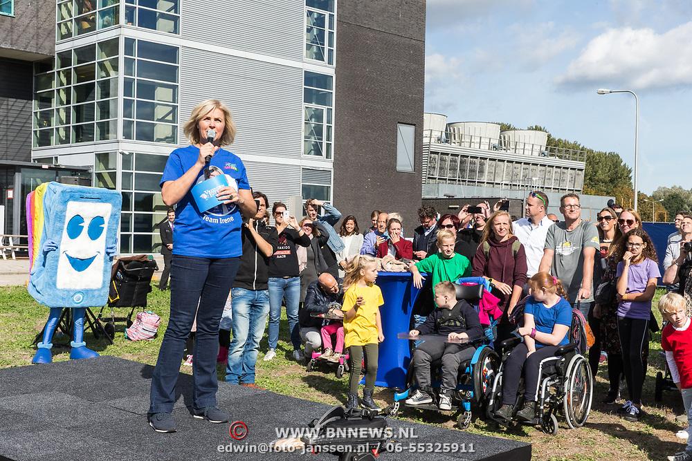 NLD/Amsterdam/20180925 - BN'ers over stormbaan voor metabole ziekte, Irene Moors