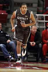29 December 2014:  DeVonta Crochrell during an NCAA non-conference interdivisional exhibition game between the Quincy University Hawks and the Illinois State University Redbirds at Redbird Arena in Normal Illinois.
