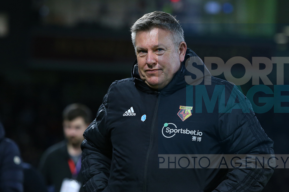 Watford Assistant Head Coach Craig Shakespear during the Premier League match at the American Express Community Stadium, Brighton and Hove. Picture date: 8th February 2020. Picture credit should read: Paul Terry/Sportimage