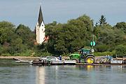 Donau Fähre Mariaposching, Strömungsfähre, Bayerischer Wald, Bayern, Deutschland | Danube ferry Mariaposching, Bavarian Forest, Bavaria, Germany
