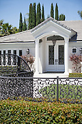 White Colonial Front Entry Way