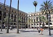 Spanje, Barcelona, 30-5-2007..Plaza Real bij de Ramblas...Foto: Flip Franssen