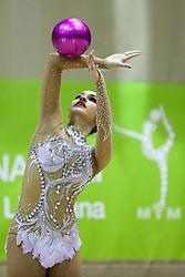 Yulia Sinitsyna of Russia competes during 28th MTM - International tournament in rhythmic gymnastics Ljubljana, on April 4, 2015 in Arena Krim, Ljubljana, Slovenia. Photo by Matic Klansek Velej / Sportida