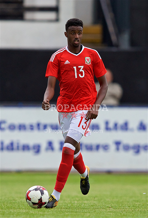 RHYL, WALES - Monday, September 4, 2017: Wales' Adam Sharif during an Under-19 international friendly match between Wales and Iceland at Belle Vue. (Pic by Paul Greenwood/Propaganda)