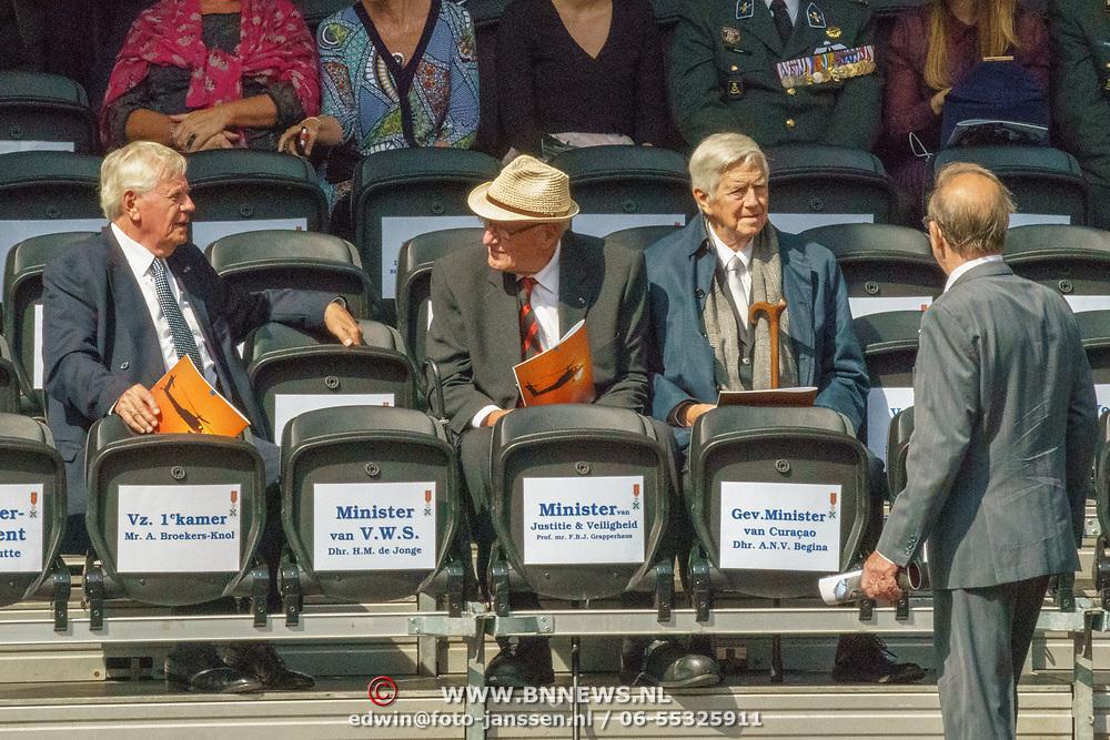NLD/Den Haag/20180831 - Koninklijke Willems orde voor vlieger Roy de Ruiter, Willem Hoekzema, ..... en Frits Bolkestein