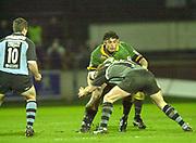 Northampton, Northamptonshire,  7th December 2002, [Mandatory Credit: Peter Spurrier/Intersport Images],Heineken European Cup - Franklin Gardens - Northampton vs Cardiff<br /> Budge Pountney