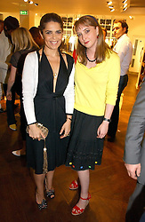 Left to right, fashion designer DANIELLA HELAYEL and DAISY DE VILLENEUVE at the opening of the new Diesel shop at 130 New Bond Street, London W1 on 18th May 2006.<br />
