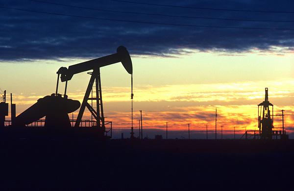 Silhouette of a Pump Jack