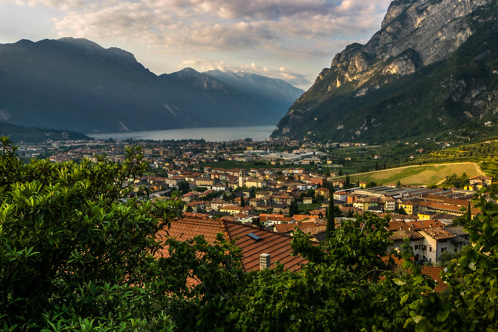 Riva del Garda and Garda Lake in Italy. Tourism is the most important activity of the town. Some of its famous guests were Nietzsche (who stayed at Hotel Du Lac), the Mann brothers, the Brods, Kafka and Lawrence.