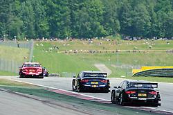 05.06.2011, Red Bull Ring, Spielberg, AUT, DTM Red Bull Ring, im Bild ein Feature mit Susie Stoddart, (GBR, TV Spielfilm AMG Mercedes), Mattias Ekstroem, (SWE, Audi Sport Team Abt Sportsline) und Edoardo Mortara, (ITA, Audi Sport Team Rosberg) // during the DTM race on the Red Bull Circuit in Spielberg, 2011/06/05, EXPA Pictures © 2011, PhotoCredit: EXPA/ S. Zangrando
