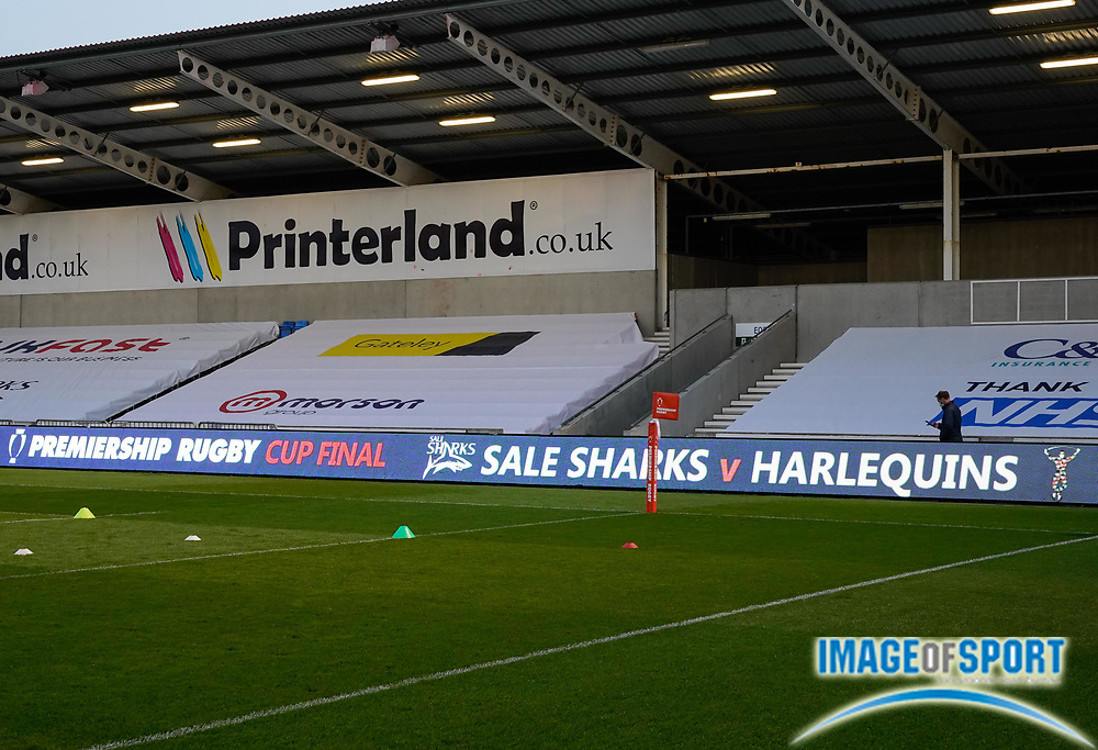 General Stadium view before The Premiership Rugby Cup Final at The AJ Bell Stadium, Eccles, Greater Manchester, United Kingdom, Monday, September 21, 2020. (Steve Flynn/Image of Sport)