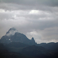 Africa, Kenya, Nanyuki. Mt. Kenya, view from the Mt. Kenya Safari Club.
