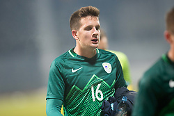 Luka Susnjara of Slovenia during football match between National teams of Slovenia and France in UEFA European Under-21 Championship Qualification, on November 13, 2017 in Domzale, Slovenia. Photo by Vid Ponikvar / Sportida