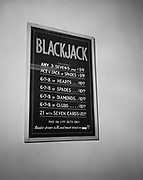 Y-490128-04.  Blackjack odds chart.  Mike Elliot gambling raid. Ramapo Hotel basement, 1337 SW Washington January 28, 1949.