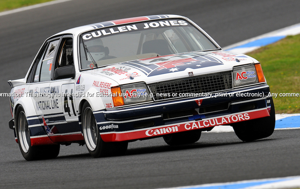 Michael West - Holden Commodore - Group G.Historic Motorsport Racing - Phillip Island Classic.18th March 2011.Phillip Island Racetrack, Phillip Island, Victoria.(C) Joel Strickland Photographics.Use information: This image is intended for Editorial use only (e.g. news or commentary, print or electronic). Any commercial or promotional use requires additional clearance.