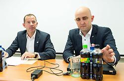 Enzo Smrekar and  Jozko Krizan during meeting of Executive Committee of Ski Association of Slovenia (SZS) on September 22, 2015 in SZS, Ljubljana, Slovenia. Photo by Vid Ponikvar / Sportida