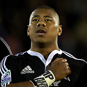 Paul Ngauamo, New Zealand, during the Australia V New Zealand Final match at the IRB Junior World Championships in Argentina. New Zealand won the match 62-17 at Estadio El Coloso del Parque, Rosario, Argentina,. 21st June 2010. Photo Tim Clayton...