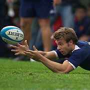 Vincent Clerc, France, in action during the Argentina V France test match at Estadio Jose Amalfitani, Buenos Aires,  Argentina. 26th June 2010. Photo Tim Clayton...