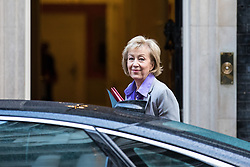 © Licensed to London News Pictures. 28/11/2017. London, UK. Leader of the House of Commons Andrea Leadsom arrives on Downing Street for the weekly Cabinet meeting. Photo credit: Rob Pinney/LNP