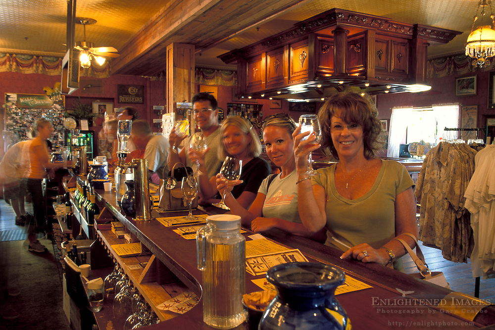 Tasting room bar, Tobin James Cellars, Paso Robles, San Luis Obispo County, California