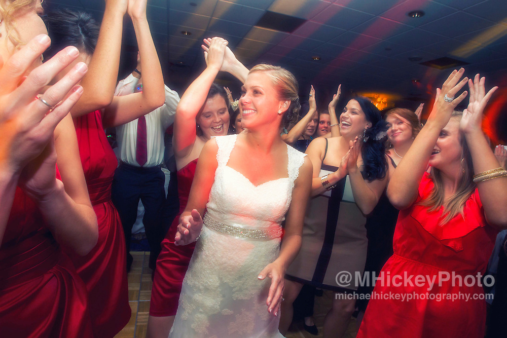 Wedding of Jessica Moore and Kyle DuBois at the Sheraton City Center in Indianapolis, Indiana. ..Wedding photography by Michael Hickey