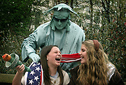 Two teenaged girls take in the sights of New York as they celebrate their 13th birthdays together. (model Released)