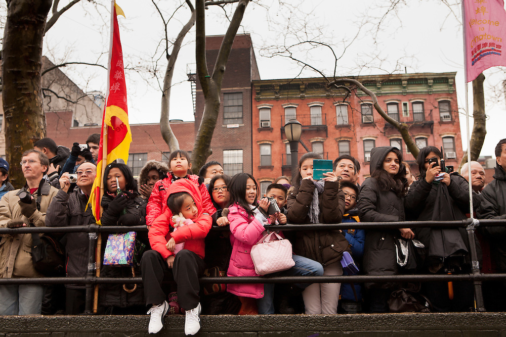 Spectators watching the ceremonies.