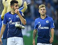 v.l. Nabil Bentaleb, Max Meyer (Schalke)<br /> Gelsenkirchen, 19.08.2017, Fussball Bundesliga, FC Schalke 04 - RB Leipzig 2:0<br /> <br /> Norway only