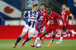 (L-R) Martin Odegaard of sc Heerenveen, Gyrano Kerk of FC Utrecht during the Dutch Eredivisie match between sc Heerenveen and Willem II Rotterdam at Abe Lenstra Stadium on March 17, 2018 in Heerenveen, The Netherlands
