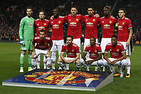 The Manchester United ManU team group Mannschaftsbild Totale before the Champions League Group A match at the Old Trafford Stadium, Manchester. Picture date: September 12th 2017.<br /> lagbilde<br /> <br /> Norway only