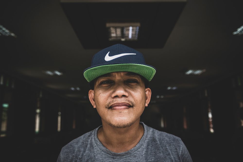 Iwahig, Palawan, Philippines - July 4, 2019:  Jade, age 29, from Manila, was sentenced to 10-12 years for possession of meth. He is currently serving his sentence at Iwahig Prison and Penal Farm on the outskirts of  the city of Puerto Princesa, where several thousand prisoners tend farms rather than sit behind bars. The penal colony is open to visitors, including tourists.