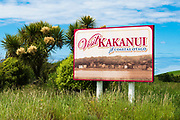 Welcome sign at Kakanui, Otago, South Island, New Zealand
