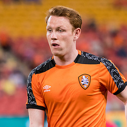 BRISBANE, AUSTRALIA - APRIL 2: Corey Brown of the Roar warms up before the round 25 Hyundai A-League match between the Brisbane Roar and Central Coast Mariners at Suncorp Stadium on April 2, 2017 in Brisbane, Australia. (Photo by Patrick Kearney/Brisbane Roar)