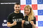 Boxen: Giants Professional Boxing Series, Wiegen, Hamburg, 06.11.2020<br /> Trainer Chrsitian Morales und Natalie Zimmermann<br /> © Torsten Helmke