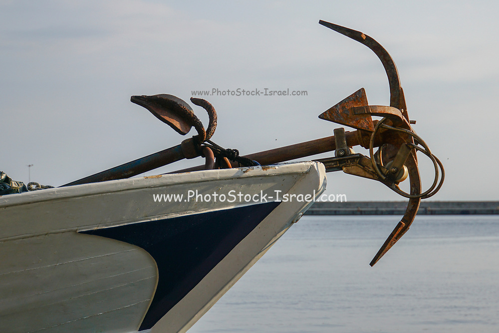 boat and rusty anchor