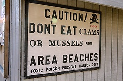 Poison Clam & Mussel Sign