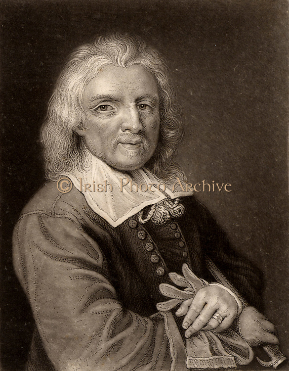 Isaak Walton (1593-1663) English writer and biographer born at Stafford, Staffordshire. His most famous work is 'The Compleat Angler' (1653).  He also wrote 'Lives' of John Donne, Henry Wotton, Richard Hooker and Richard Herbert. Engraving.
