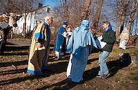 Gilford Community Church presents the Living Nativity at Thompson-Ames Historical Society Sunday,  December 11, 2011.