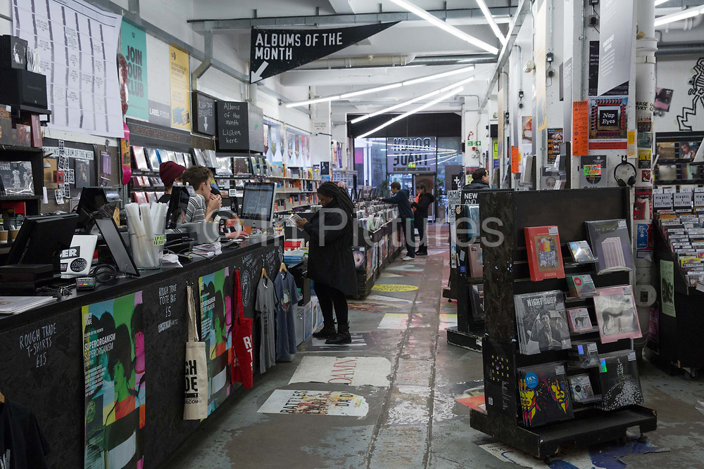 Rough Trade East record shop in the Old Truman Brewery off Brick Lane on the 28th March 2018 in East London, United Kingdom.