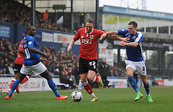 Bristol City's Luke Ayling is closed down by Oldham Athletic's Mike Jones - Photo mandatory by-line: Dougie Allward/JMP - Mobile: 07966 386802 - 03/04/2015 - SPORT - Football - Oldham - Boundary Park - Bristol City v Oldham Athletic - Sky Bet League One