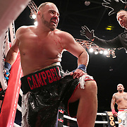 TAMPA, FL - JUNE 22: Jamie Campbell is counted out after he and Joey Beltran exchange blows during the Bare Knuckle Fighting Championships at Florida State Fairgrounds Entertainment Hall on June 22, 2019 in Tampa, Florida. (Photo by Alex Menendez/Getty Images) *** Local Caption *** Jamie Campbell; Joey Beltran
