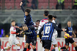 February 3, 2019 - Milan, Milan, Italy - Andrea Ranocchia #13 of FC Internazionale Milano in action during the serie A match between FC Internazionale and Bologna FC at Stadio Giuseppe Meazza on February 3, 2019 in Milan, Italy. (Credit Image: © Giuseppe Cottini/NurPhoto via ZUMA Press)
