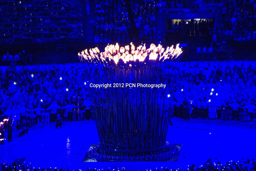 Olympic Flame at the Opening Ceremonies, Olympics London 2012