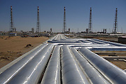 MARY, TURKMENISTAN -  (CHINA OUT) <br /> <br /> Turkmenistan's Galkynysh To Send Gas To China<br /> <br /> Employees of China National Petroleum Corporation work at a gas treatment plant at Galkynysh gas field in Mary Province, Turkmenistan. Kakageldy Abdullayev, chairman of Turkmen national gas company TurkmenGas, told a gas congress in the Turkmen capital Ashgabat on Wednesday the second stage of development at Galkynysh, world's second-largest gas field, would allow eventually to boost annual gas export to China by 25 bcm to 65 bcm per year, Reuters said. <br /> ©Exclusivepix